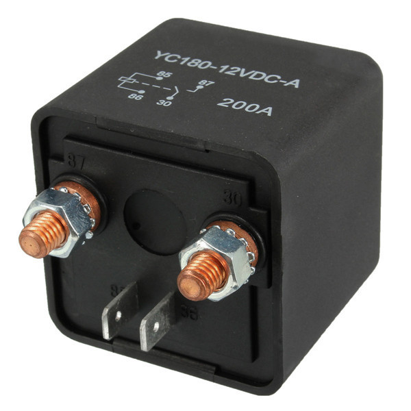 High Power Car Relay 12V 24V 200A for Large Motor Automobiales Refit
