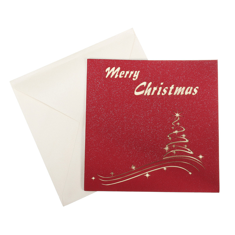 Nice Merry Christmas Cards 3D Pop Up Series Handmade Custom Greeting Cards Gifts Souvenirs Postcards