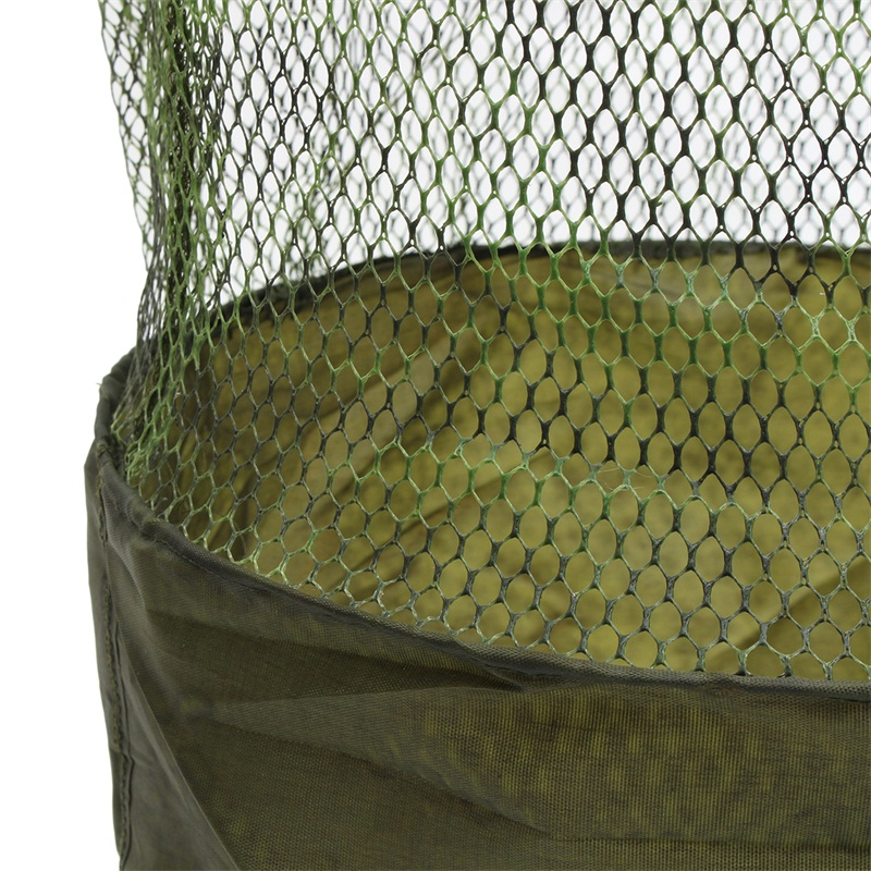 25cm 33cm Foldable Fish Cage Shrimp Fishing Net Mesh Portable Anti-Jump Keepnet Fishing Net