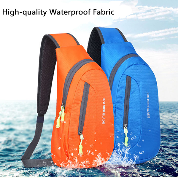 Polyester Waterproof Light Weight Chest Bag Casual Cycling Outdoor Sports Crossbody Shoulder Bag