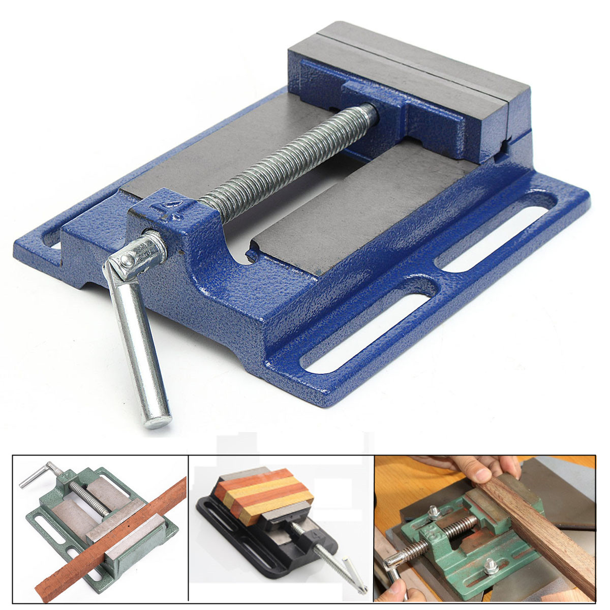 DRILL PRESS VISE Pipe Clamping Holding Cast Iron Heavy Duty 4inch Throat Open