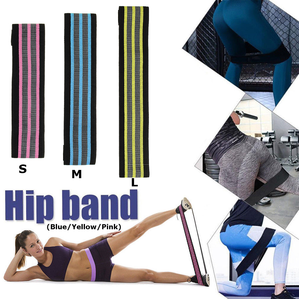 Hip Resistance Circle Band Exercise Workout