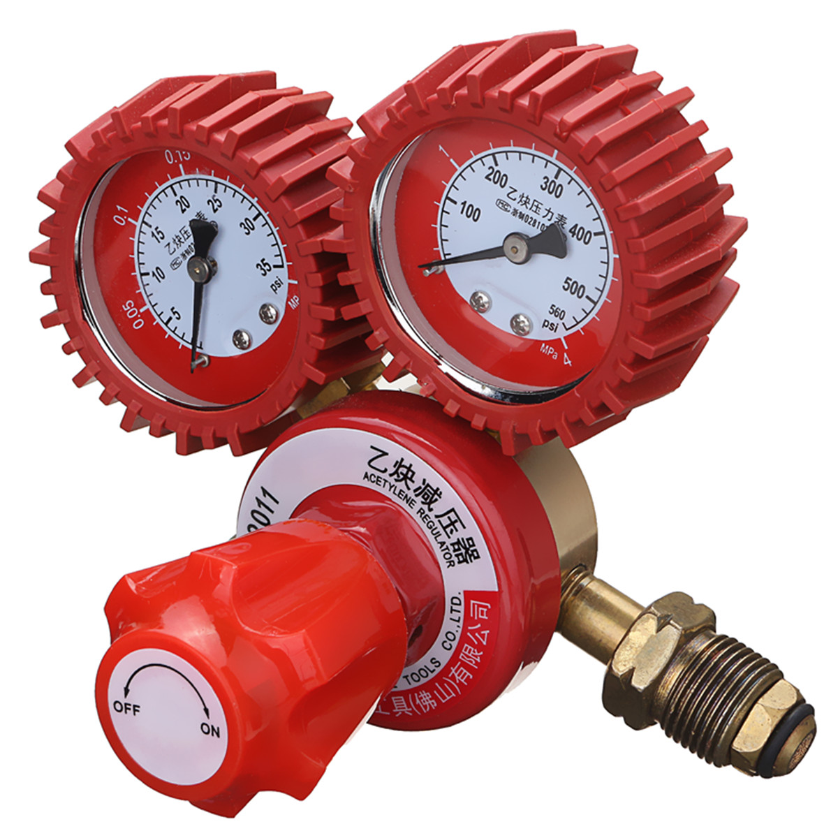 2 Gauge Acetylene Gas Regulator 0-4MPA Single Stage Welding Burning Cutting 5/8