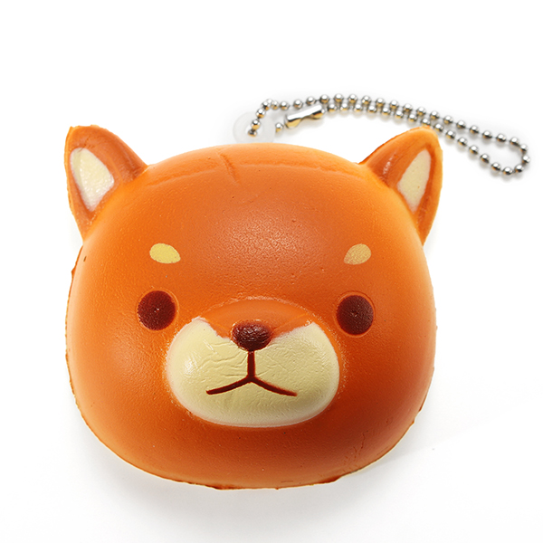 Super Squishy Cute Dog Soft Mini Animal Hanging Drop Slow Rising Decor Toy Pendant