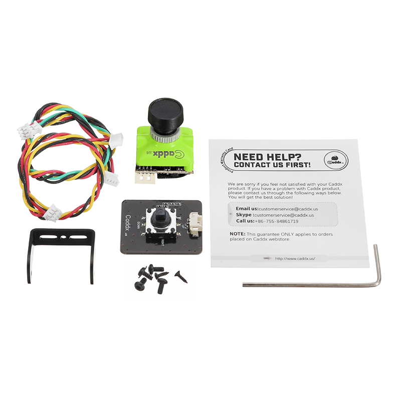"Caddx Micro Turbo S1 2.3mm NTSC 600TVL 1/3"" CCD Low Latency FPV Camera Integrated OSD W/ Case - Photo: 6"