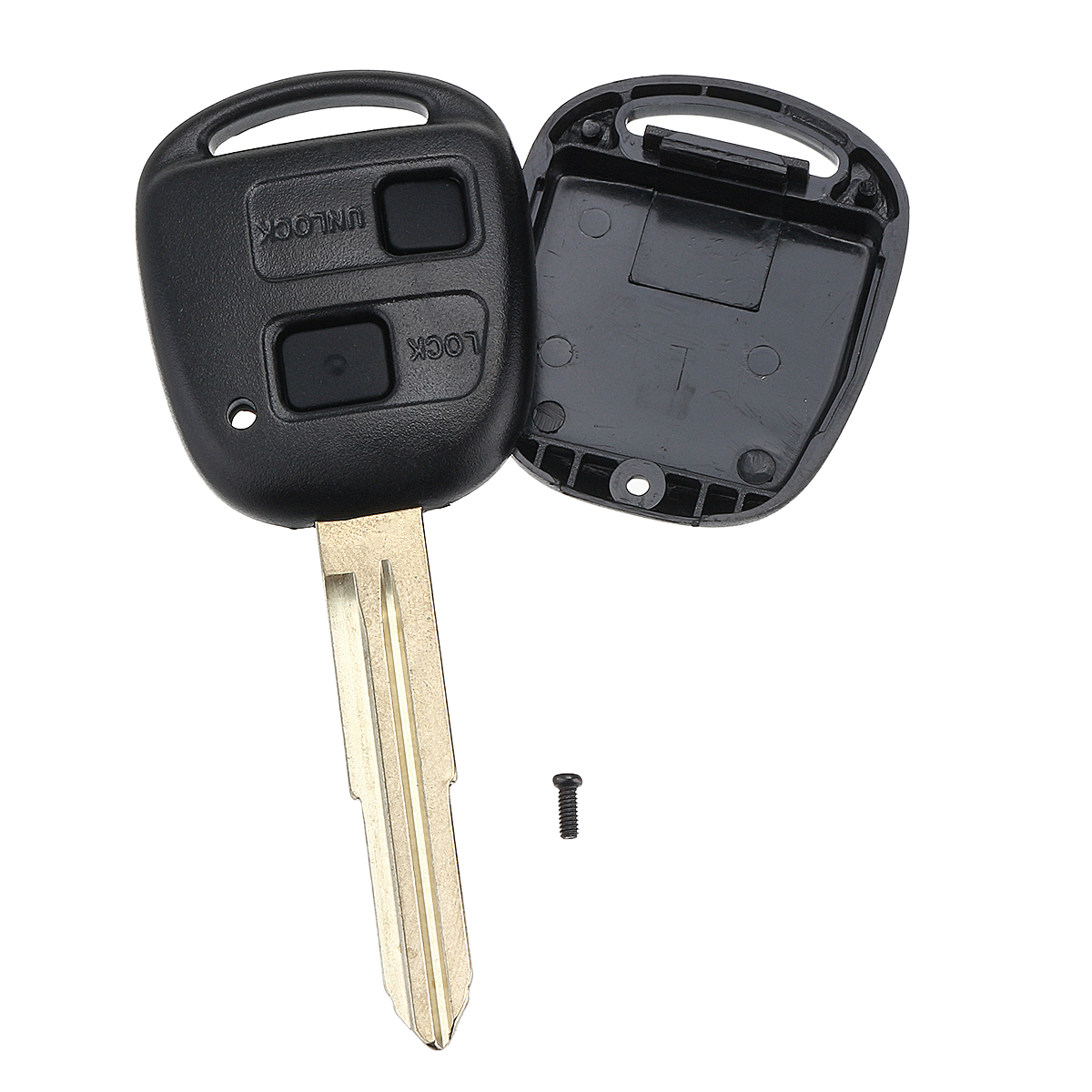 2 Button Remote Key Fob With Switch Battery Pad For Toyota Yaris Avensis Corolla RAV4