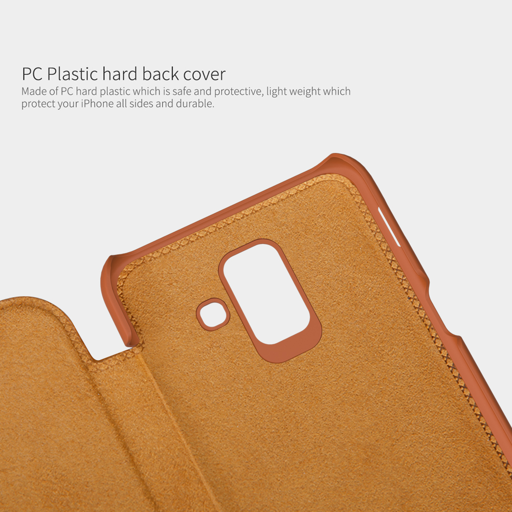 NILLKIN Flip Card Slots PU Leather PC Protective Case for Samsung Galaxy A6 2018