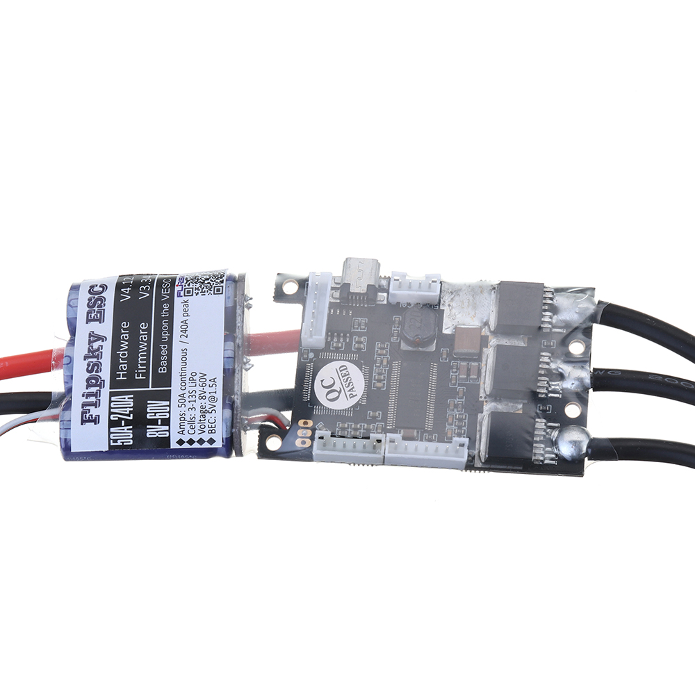HGLRC-FLIPSKY FSVESC SK8-50A ESC Electronic Speed Control 5V/1.5A BEC for Electric Longboard RC Car - Photo: 2