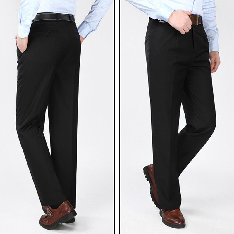a7c6da5286 mens casual high rise polyester comfy business dress pants at Banggood
