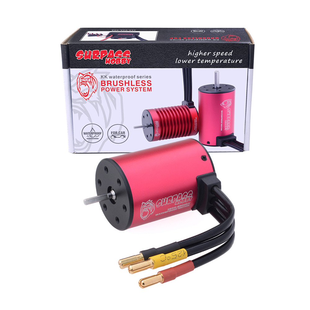 Surpass Hobby 3650 3100/3600/4500/5200kv 2S/3S 1/10 Waterproof RC Car Motor - Photo: 10