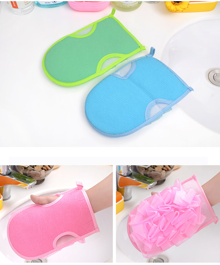 Honana BC-445 Body Exfoliating Sponge Bath Massage Of Shower Bath Gloves Shower Exfoliating Bath Gloves Shower Scrubber