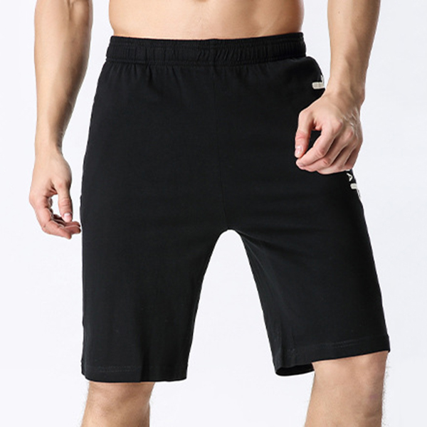 Summer Mens Breathable Bermuda Shorts Casual Sports Shorts Knee Length Loose Shorts