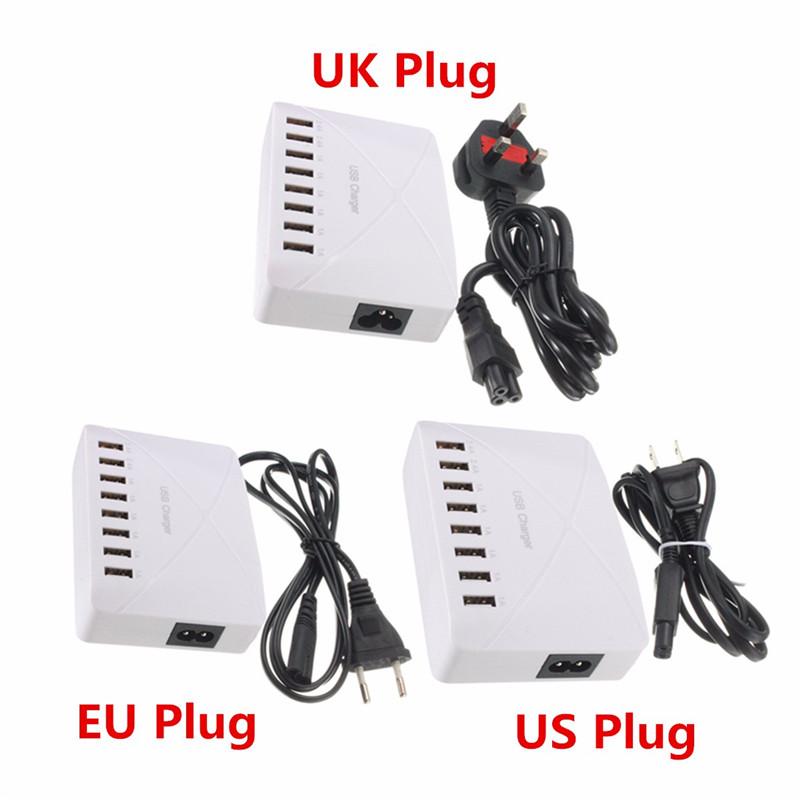 High Speed 8 Ports USB Charger Hub AC Power Adapter Socket Splitter UK US EU Plug For iPhone Samsung