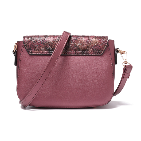 Brenice Women Retro Embossing Floral Shoulder Crossbody Bag