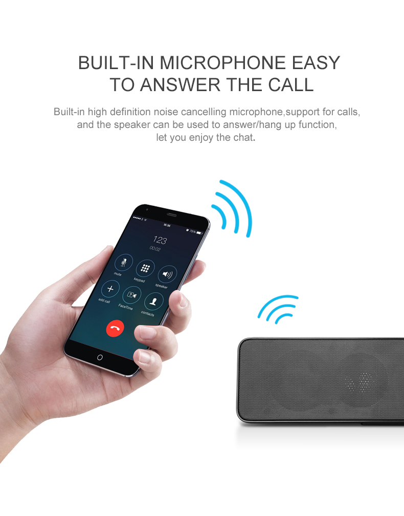 NBY5530 Portable Wireless bluetooth Speaker Stereo Bass Outdoor Hands-free Speaker With Mic