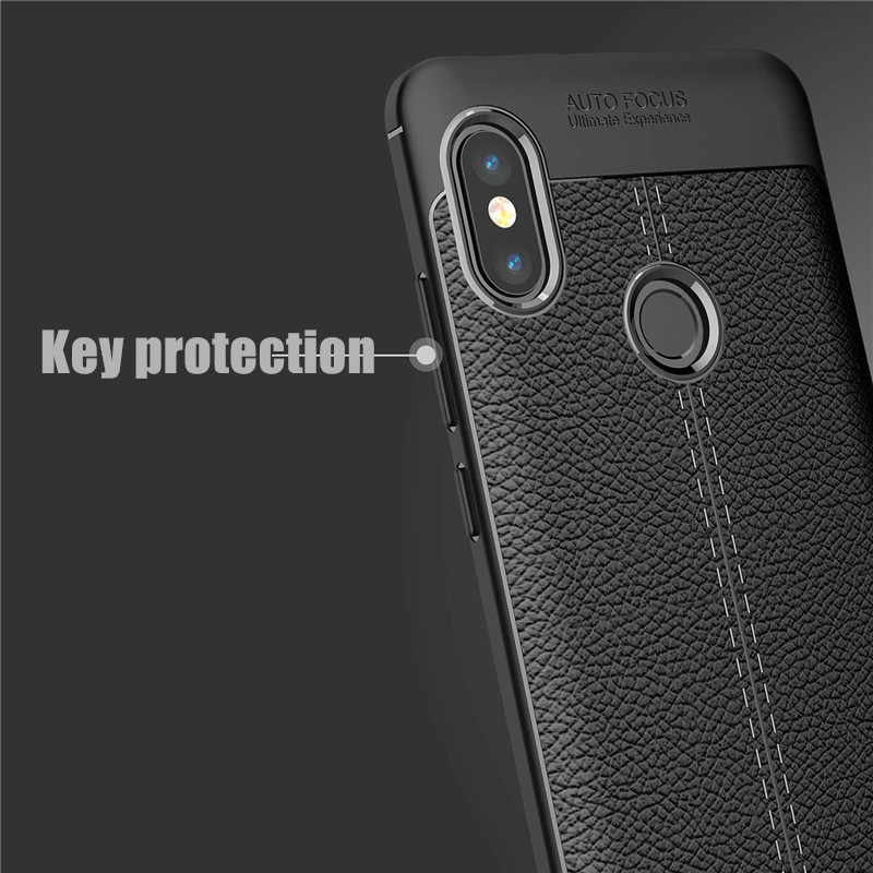 Bakeey Litchi Anti-fingerprint Silicone Protective Case For Xiaomi Redmi Note 5/Redmi Note 5 Pro
