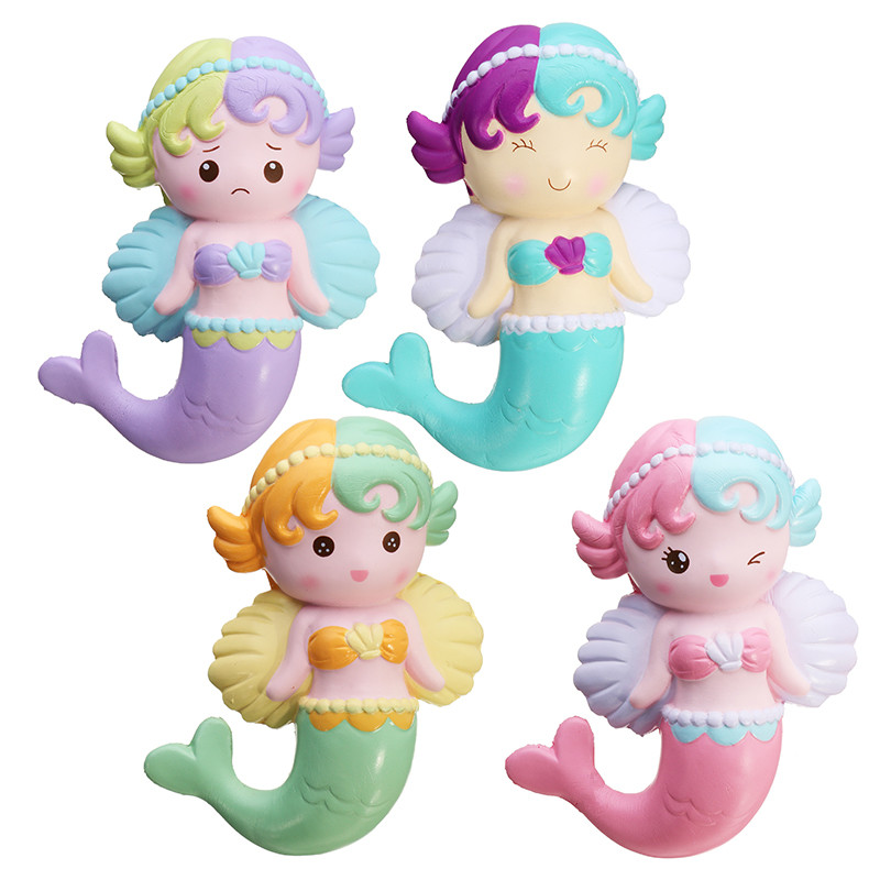 Oriker Squishy Angel Mermaid 16cm Soft Sweet Slow Rising Original Packaging Collection Gift Decor