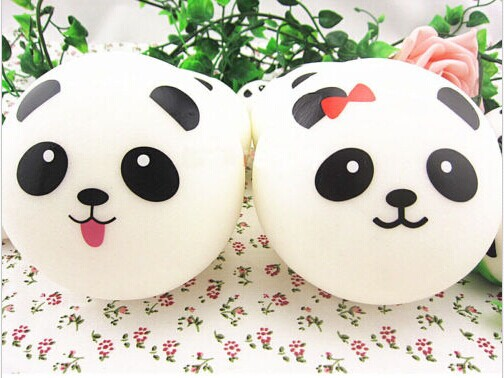 Kawaii Jumbo Panda Squishy Bun Cell Phone Bag Strap Pendant