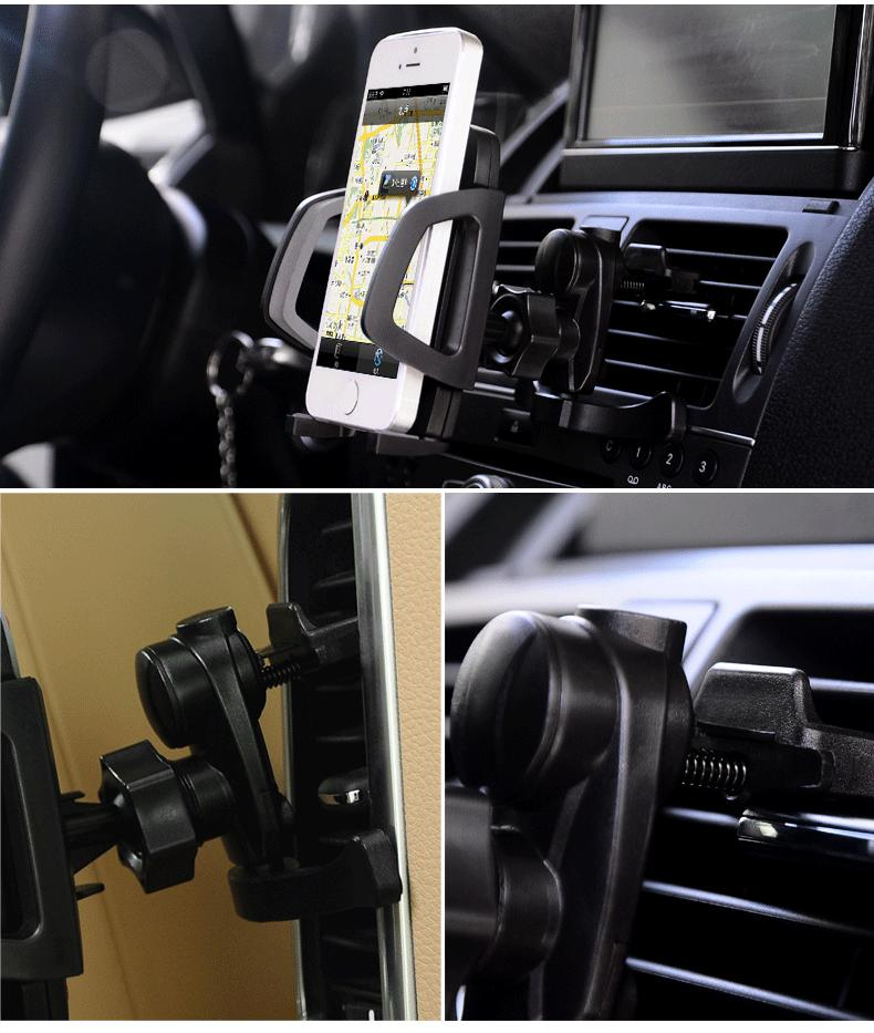 Baseus 360 Degree Rotating Flexible Car Air Vent Phone Holder Bracket Mount for iPhone Samsung GPS