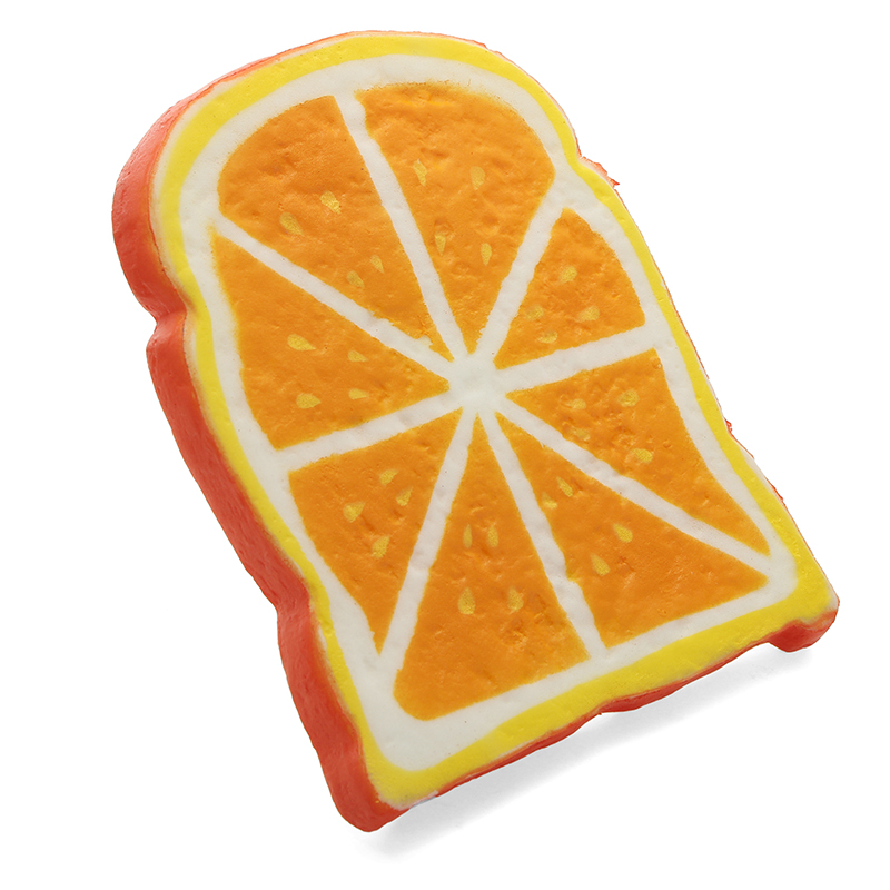 SquishyShop Orange Bread Toast Slice Squishy 14cm Soft Slow Rising Collection Gift Decor Toy