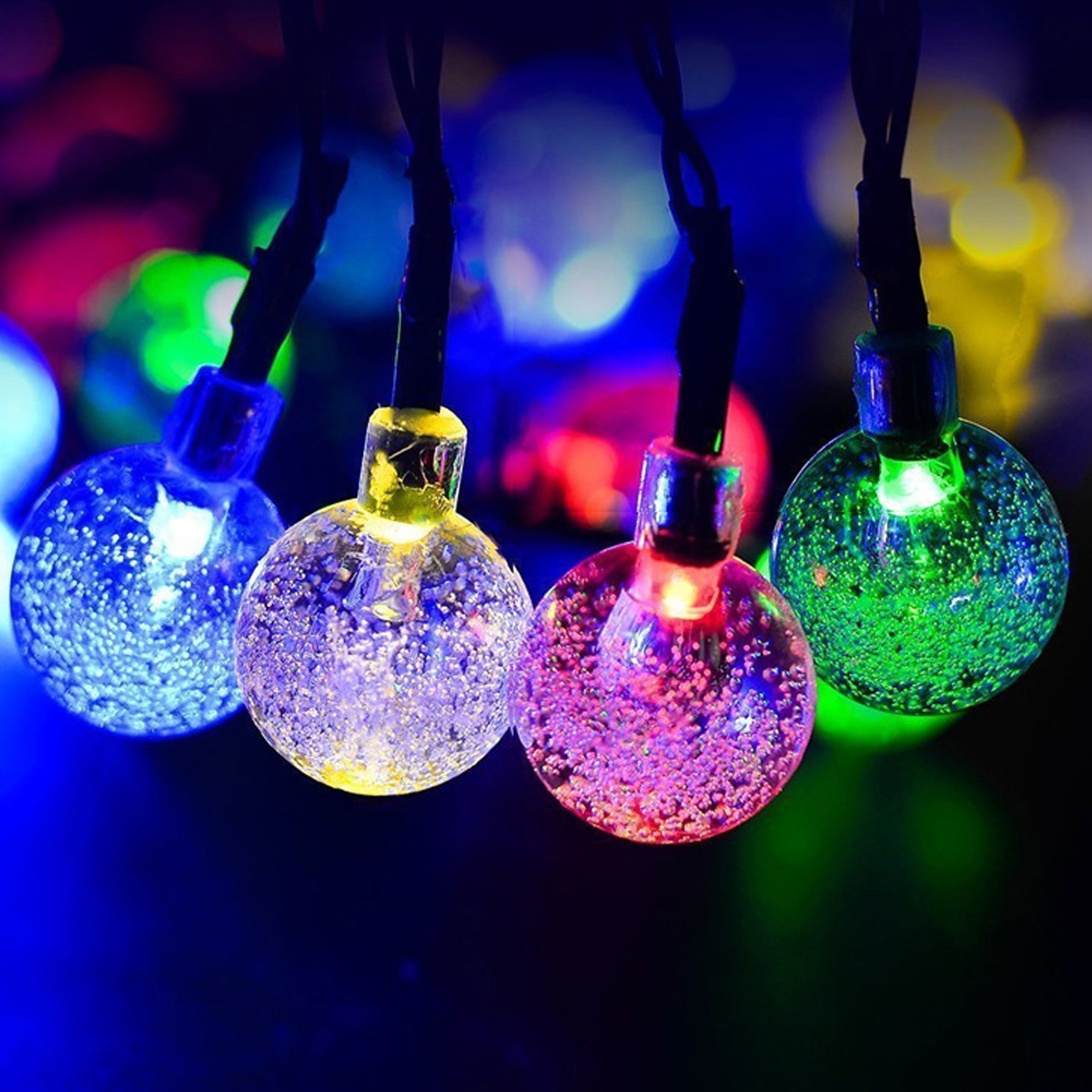 Solar Powered 6M 30LEDs Bubble Ball Waterproof Fairy String Lights For Garden Christmas Party