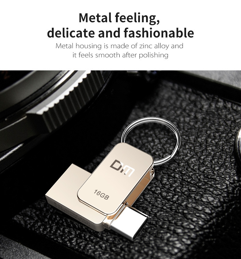 DM 16GB 32GB 64GB Metal Mini Type-c OTG USB 3.0 Flash Drive for Xiaomi Mobile Phone Tablet