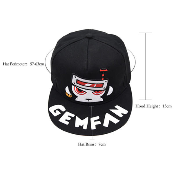 Gemfan WL-01 Monkey Embroidery Baseball Hats Adjustable Snapback Hip-Hop Cap