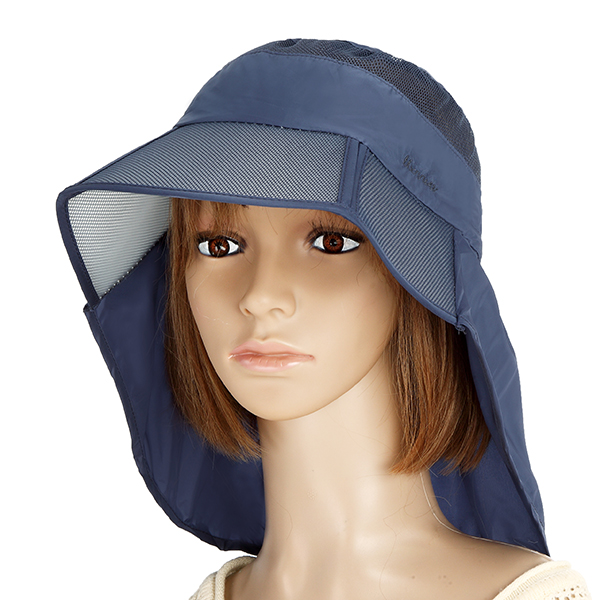 Women Summer Foldable Thin Breathable Wide Brim Beach Hat Outdoor Sport Sunscreen Visor Cap