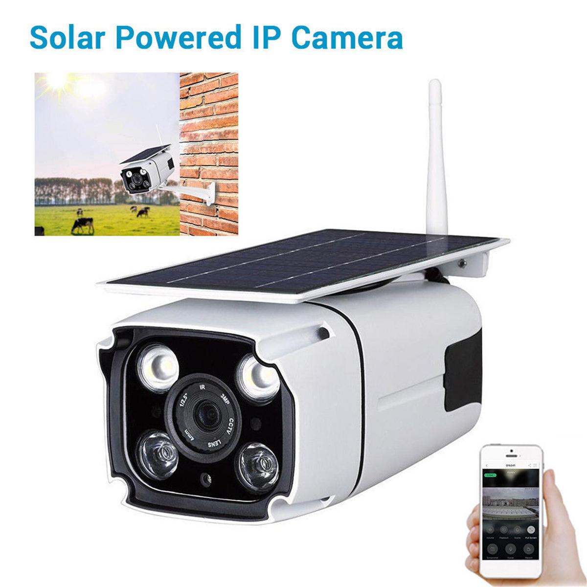 IP67 1080P HD Solar Powered Wireless WIFI IP Surveillance Camera Night Vision Outdoor