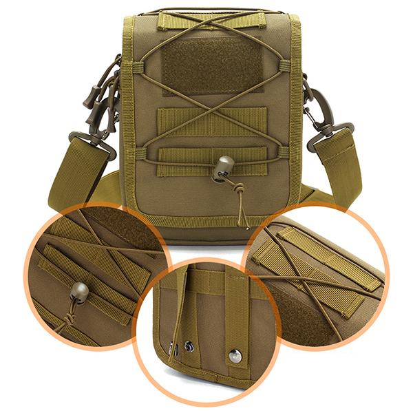 Men Nylon Waterproof Tactical Camo Outdoor Crossbody Bag
