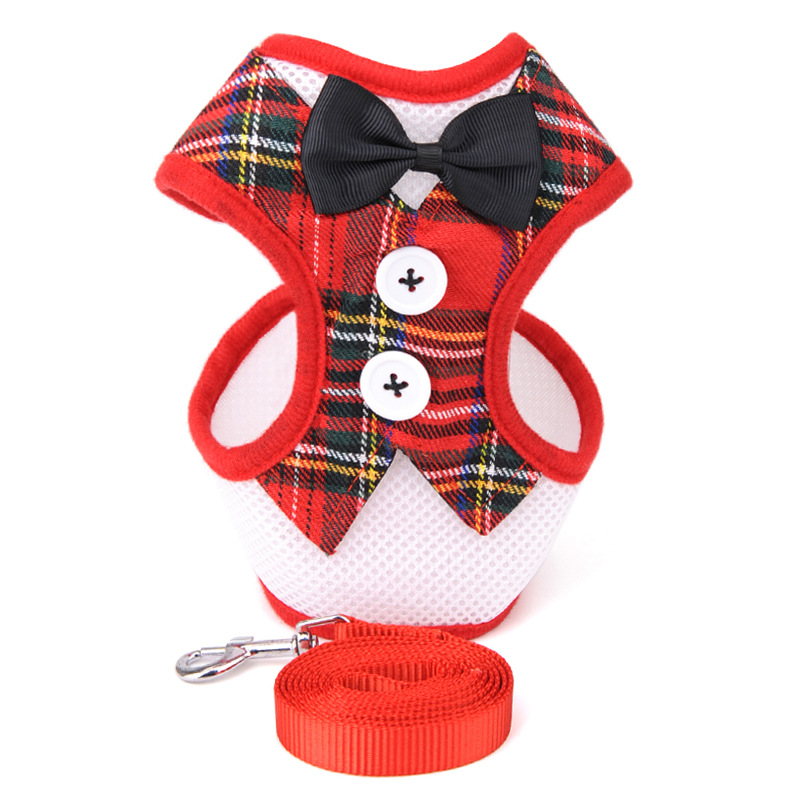 Dog collar Strap Small Dog Teddy Dogs Leads Evening Dress Bow Tie Cute Pet Soft Comfortable Leash