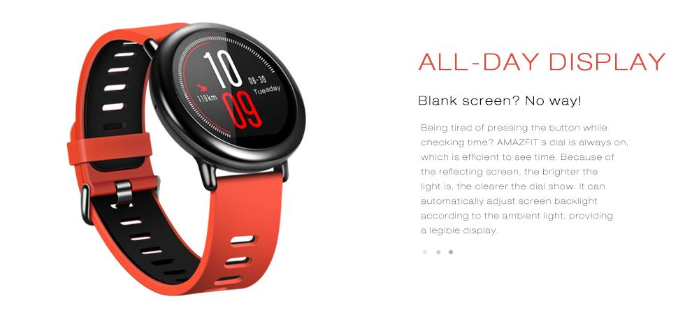 AMAZFIT Xiaomi IP67 Waterproof Zirconia Ceramics GPS Heart Rate Monitor Smart Watch(English Version)