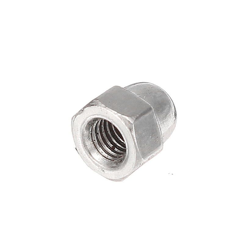 Suleve™ M3SN6 30Pcs M3 304 Stainless Steel Dome Head Cap Acorn Hex Nuts Thread Decor Cover Nuts