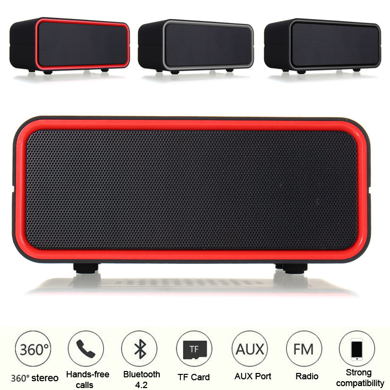 Wireless bluetooth Speaker AUX TF USB Portable Music Sound FM Hands Free Call