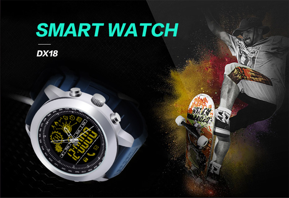 Bakeey DX18 Waterproof IP67 Outdoor Sport Call SMS Reminder Smart Watch for Android IOS phone