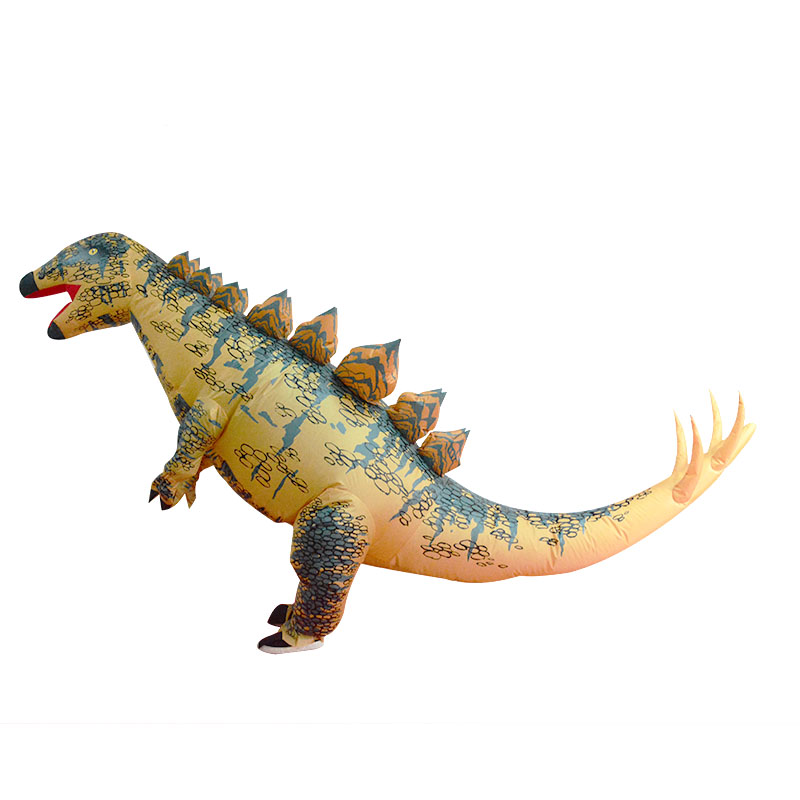 Up to 2m Adult Yellow Stegosaurus Doll Inflatable Toys Suit With Blower Holiday Party Costume Outfit Decoration Toys