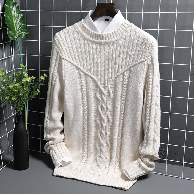 Mens Casual High Collar Slim Fit Sweaters