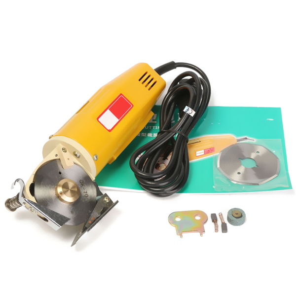 220V 70mm Electric Cloth Textile Cutter Fabric Cutting Machine Saw Blade