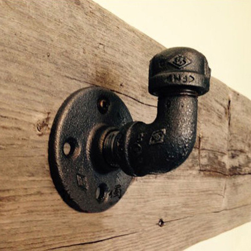 Industrial Retro Iron Pipe Wall Mount Hook Vintage Steampunk Clothes Coat Hat Hook