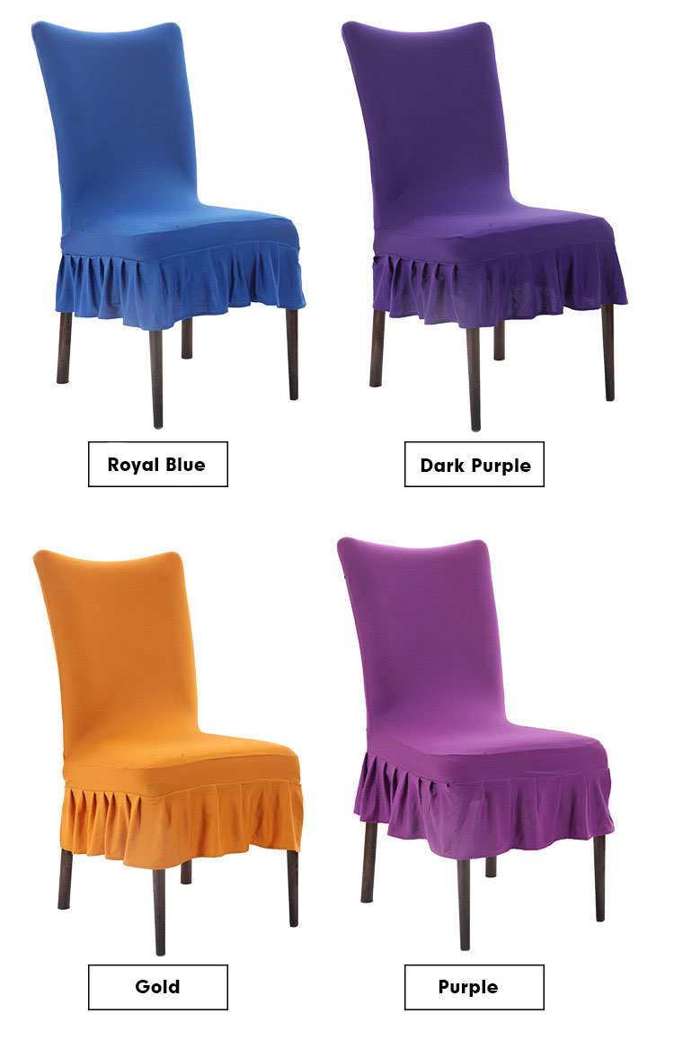 Honana Elegant Pure Color Elastic Stretch Chair Seat Cover Dining Room Home Wedding Party Decor