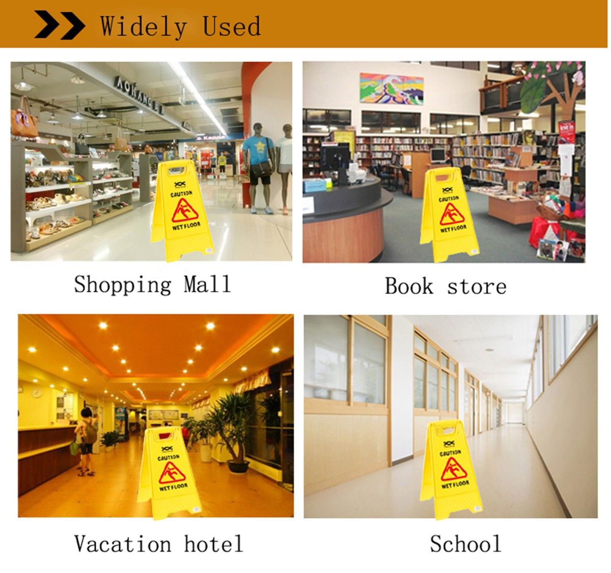 Professional Wet Floor Warning Caution Hazard Cleaning Slippery Safety Sign Tools
