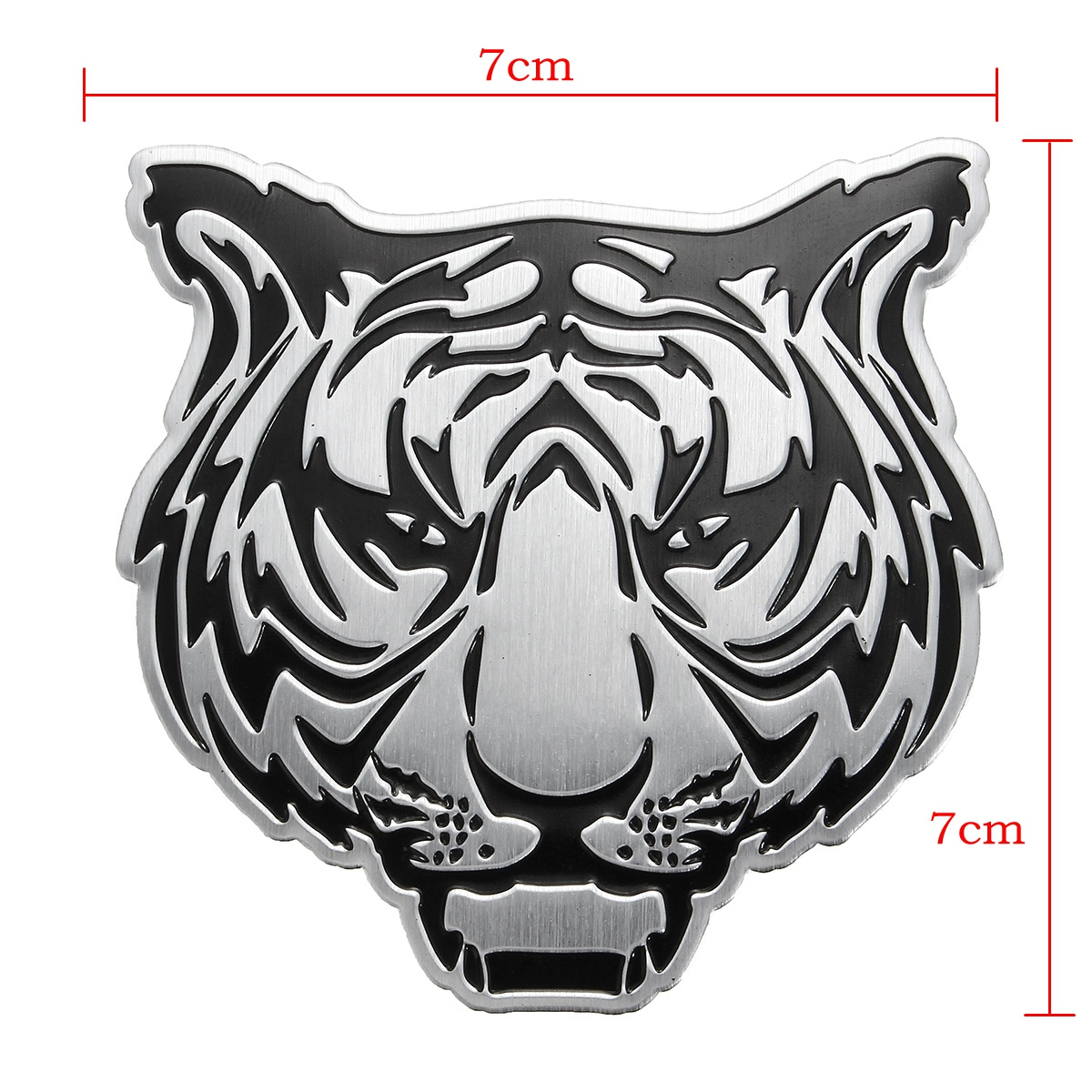 3D DIY Silver Animals Head Metal Logo Sticker Car Motorcycle Badge Emblem Decals