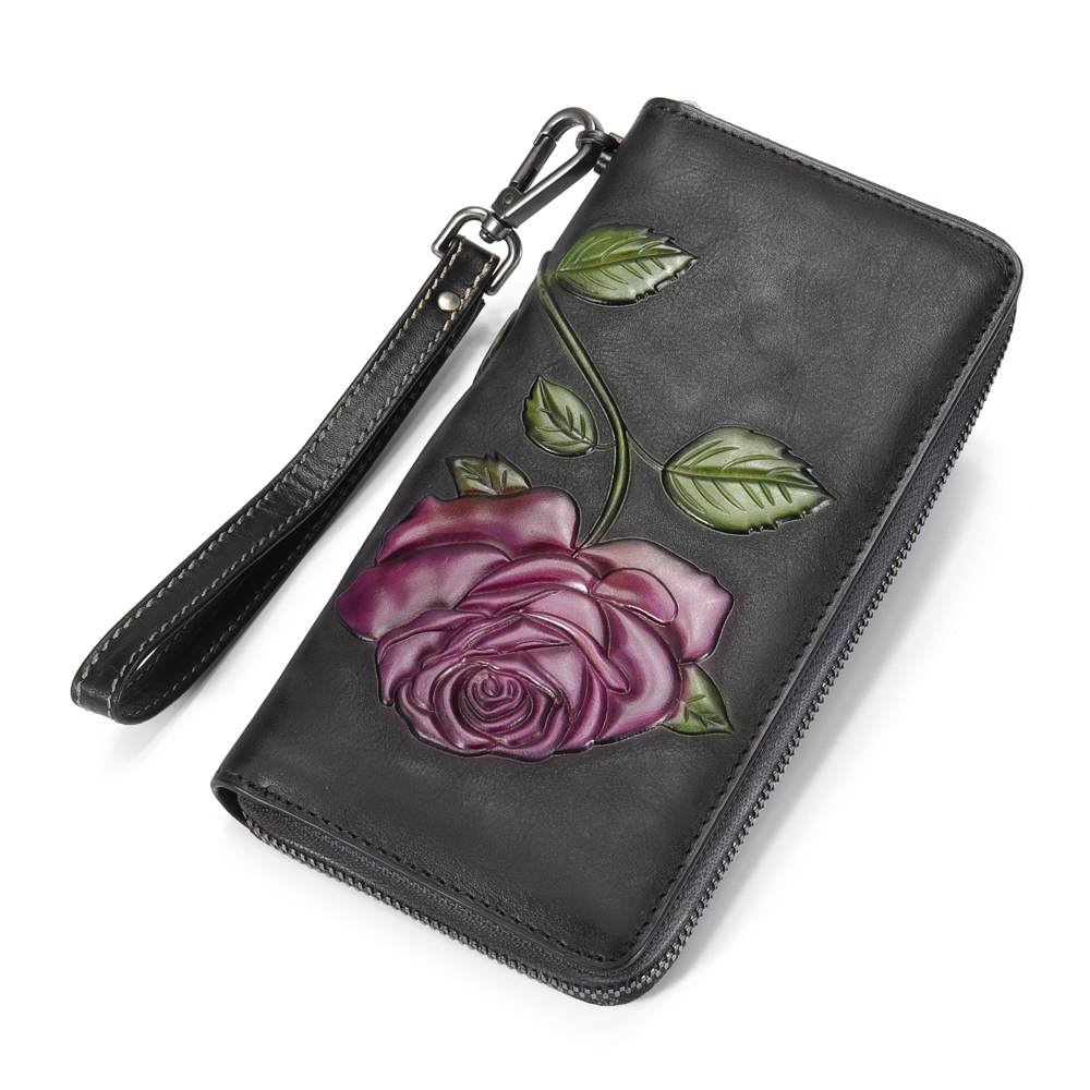 Brenice Women Genuine Leather Classic New Fashion Wallet