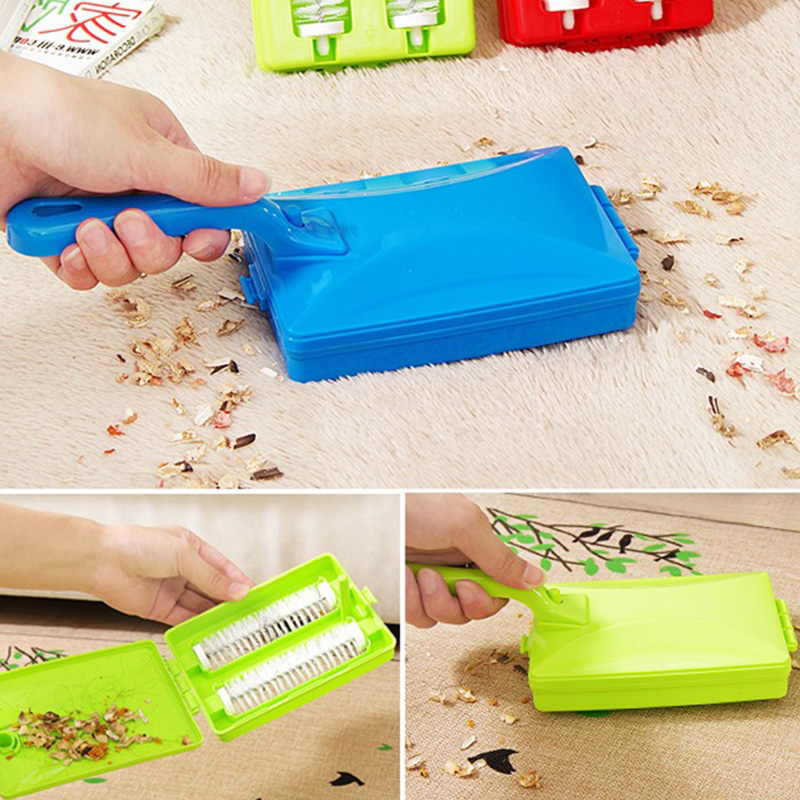 Plastic Hand-held Carpet Debris Cleaning Brushes Sofa Carpet Pet Hair Brush Multi-functional Dust Cleaning Tool