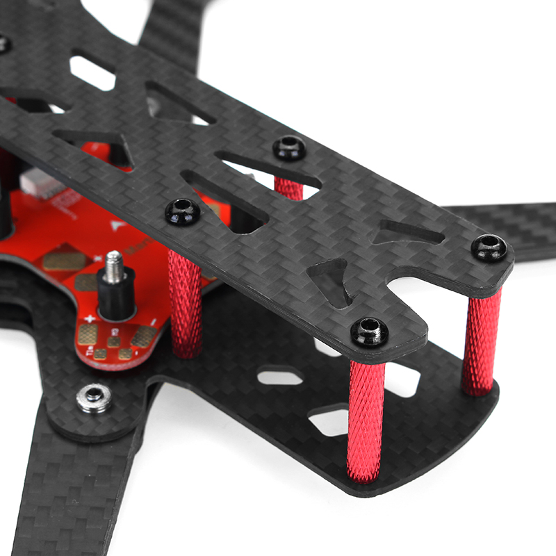 Realacc Real4 220mm Wheelbase 4mm Arm X Structure Frame Kit with PDB Board for RC Drone FPV Racing