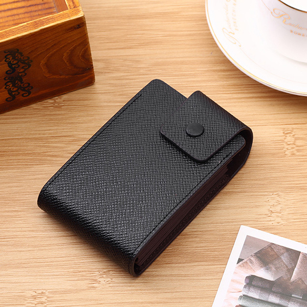 Men Faux Leather 10 Card Slots Coins Bag Wallet