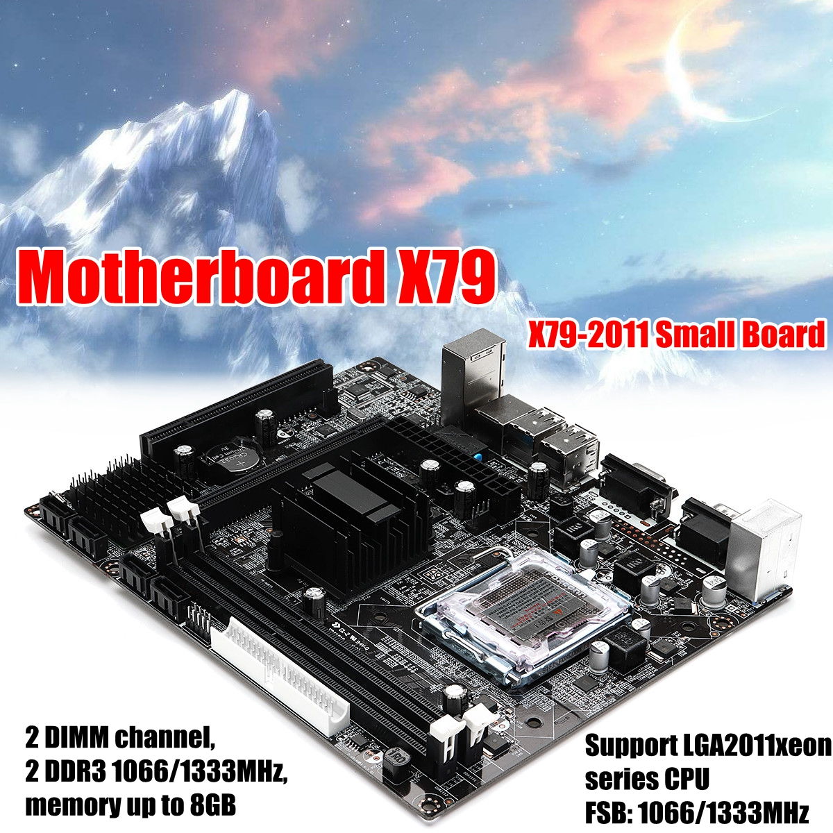 X79-2011 Small Board Mainboard Motherboard For LGA2011 Xeon Series CPU DDR3 1066/1333 For Intel X79