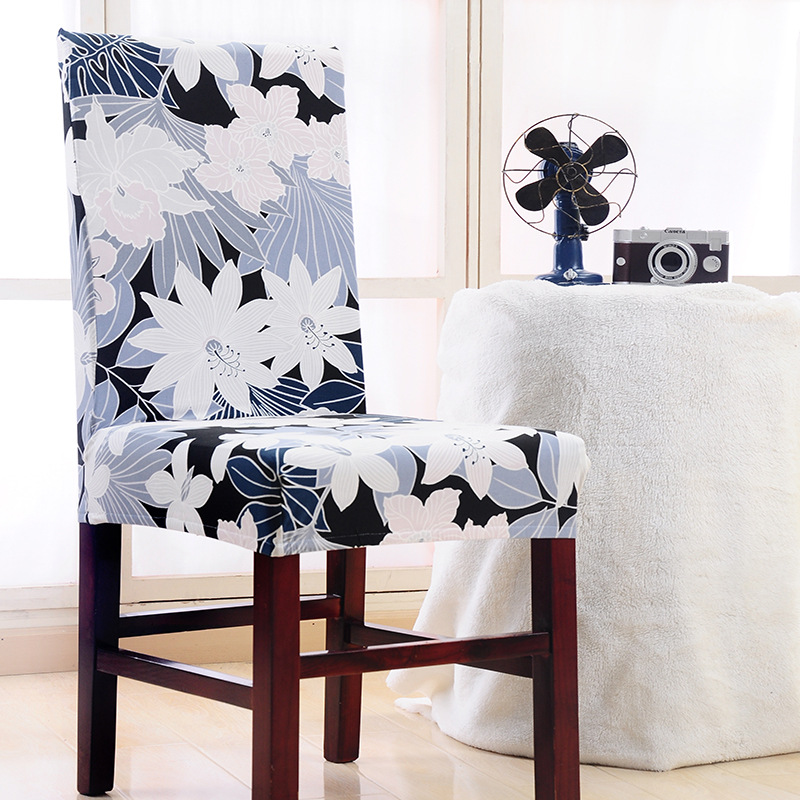 Household Chair Cover Elastic Anti-fouling Seat Sub-set Chairs Cover For Hotel Dining Office