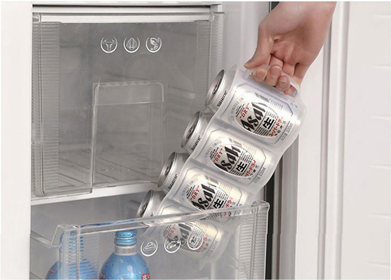 Honana CF-KT04 Cans Storage Box Refrigerator Fridge Organizer Four Case Sauce Bottle Container
