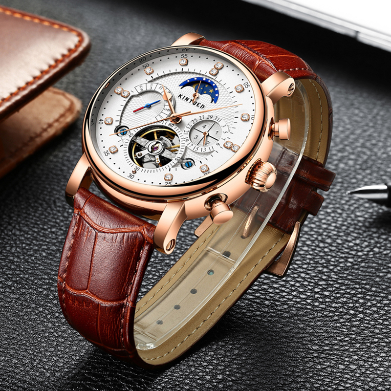 KINYUED JYD-J025 Moon Phase Automatic Mechanical Watch